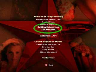 James Bond 007: From Russia with Love - Credits Screen. SoftEgg is prominently featured